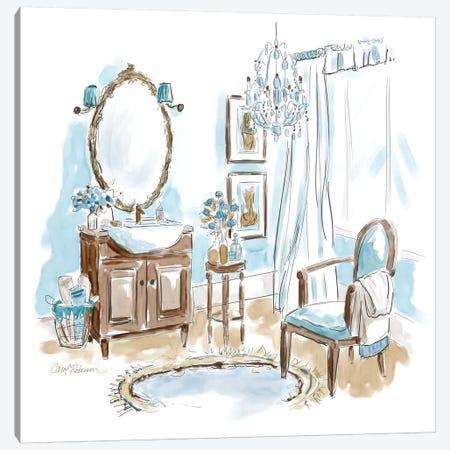 Blue Opulence II Canvas Print #CRO743} by Carol Robinson Canvas Wall Art