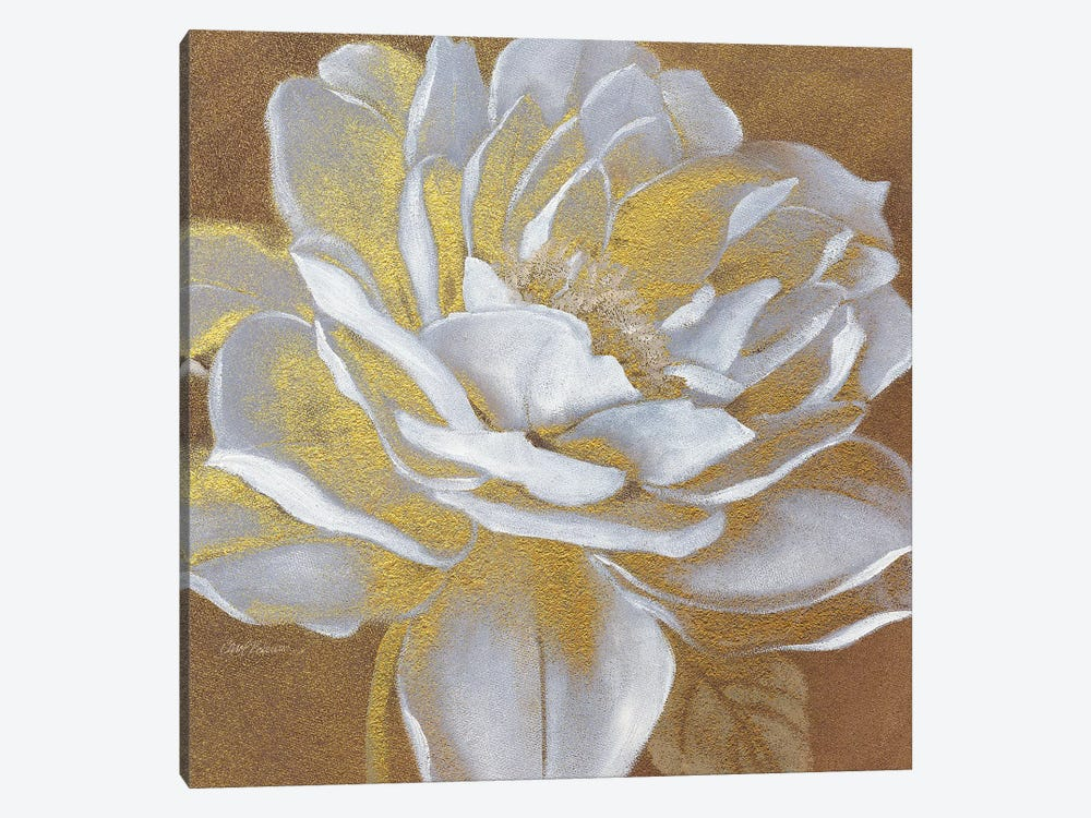 Golden Bloom I 1-piece Canvas Artwork