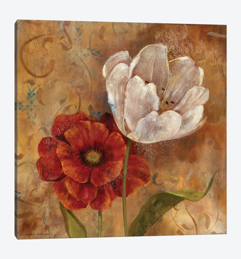 Flower Duet I by Carol Robinson 1-piece Canvas Wall Art
