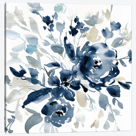 Indigo Garden I 3-Piece Canvas #CRO776} by Carol Robinson Canvas Artwork