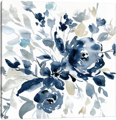 Indigo Garden I Canvas Art Print