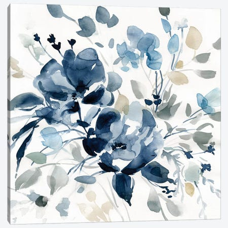 Indigo Garden II 3-Piece Canvas #CRO777} by Carol Robinson Canvas Artwork