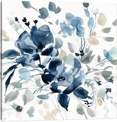 Indigo Garden II Canvas Art Print