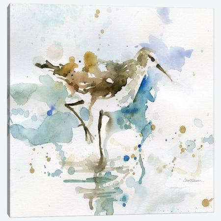 Malibu Sand Piper Canvas Print #CRO790} by Carol Robinson Art Print