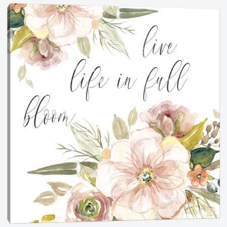 Peach Bloom II Canvas Print #CRO809} by Carol Robinson Canvas Print