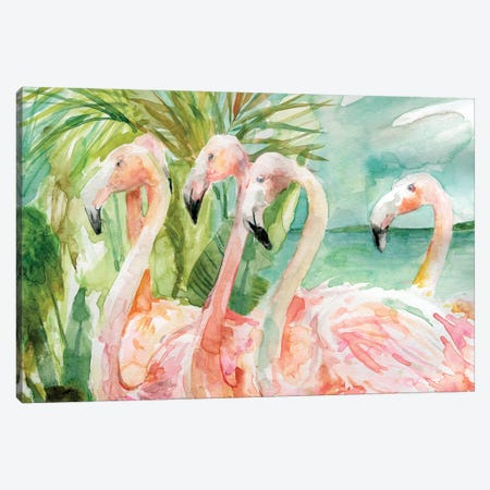 Pink Ladies Canvas Print #CRO813} by Carol Robinson Canvas Wall Art