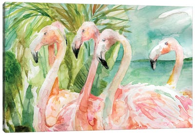 Pink Ladies Canvas Art Print