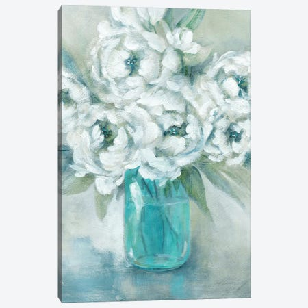 Pure Peonies 3-Piece Canvas #CRO822} by Carol Robinson Art Print