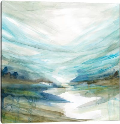 Soft River Reflection Canvas Art Print