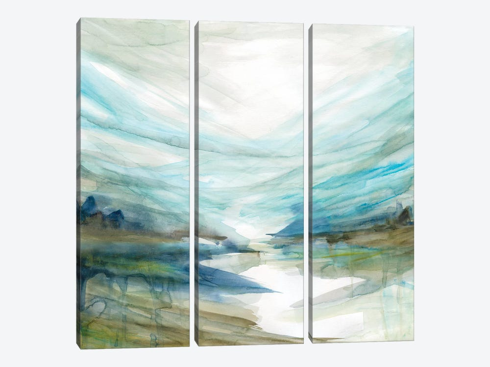 Soft River Reflection by Carol Robinson 3-piece Canvas Art