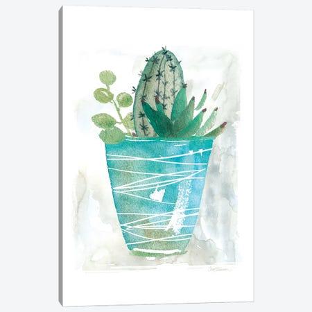 Summer Cactus Canvas Print #CRO840} by Carol Robinson Art Print