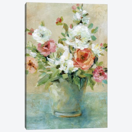 Sun Drenched Bouquet Canvas Print #CRO847} by Carol Robinson Canvas Artwork
