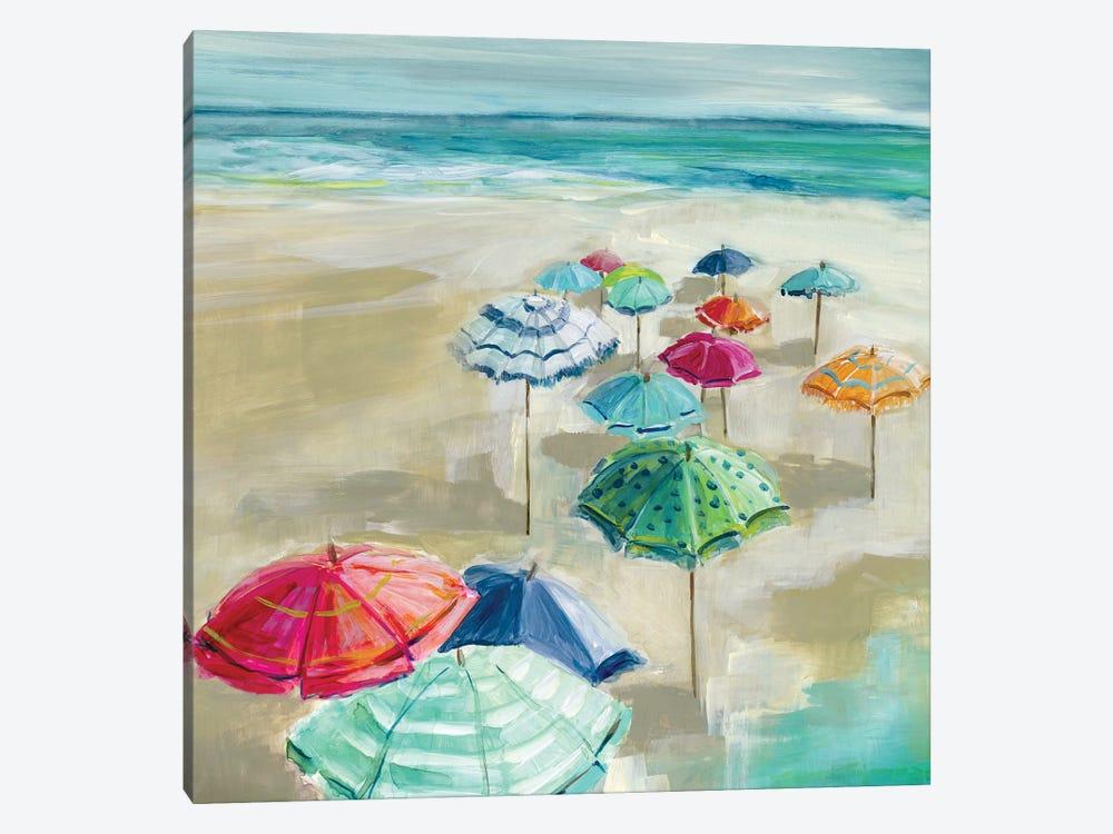 Umbrella Beach I by Carol Robinson 1-piece Art Print