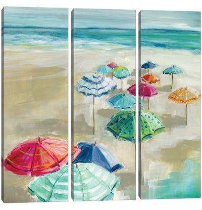 Umbrella Beach I Canvas Art Print