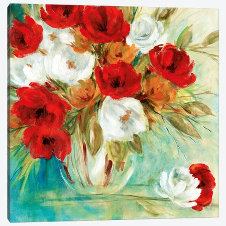 Vibrant Bouquet I Canvas Print #CRO854} by Carol Robinson Canvas Print