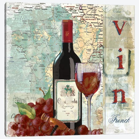 Vin Canvas Print #CRO856} by Carol Robinson Canvas Print