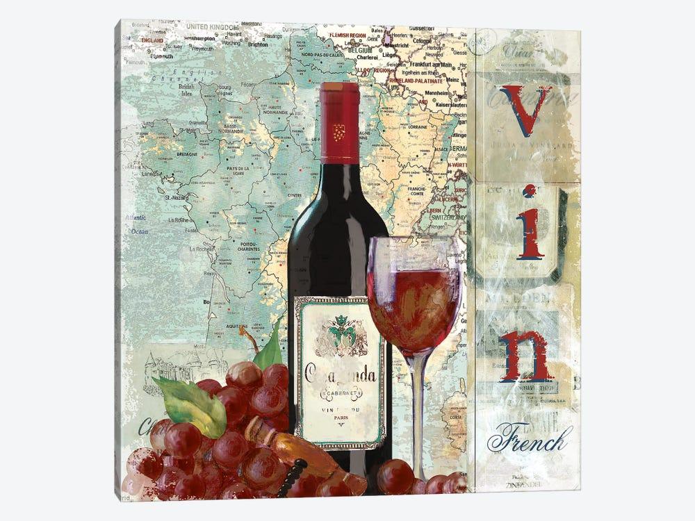 Vin by Carol Robinson 1-piece Canvas Art Print
