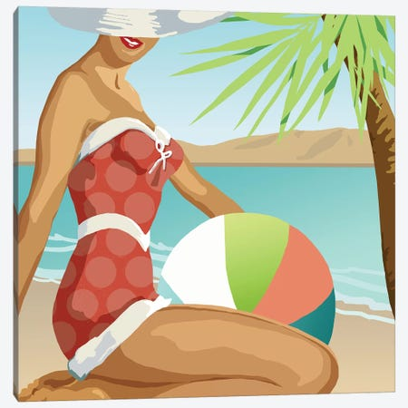 Beach Beauty I Canvas Print #CRO869} by Carol Robinson Art Print
