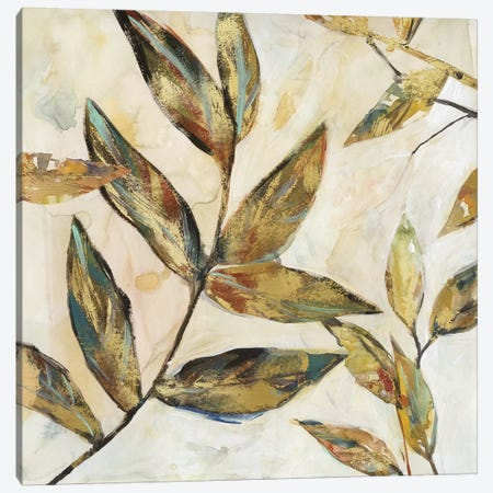 Gilded Leaves I Canvas Print #CRO883} by Carol Robinson Canvas Art Print