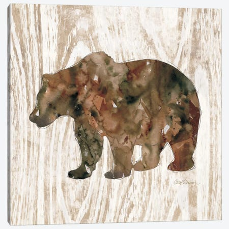 Pine Forest Bear Canvas Print #CRO88} by Carol Robinson Canvas Artwork