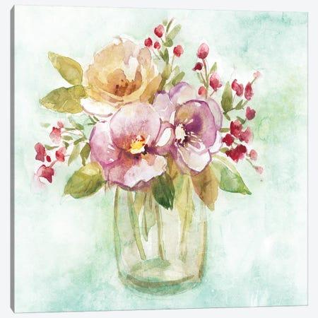 Summer Pansy Canvas Print #CRO896} by Carol Robinson Art Print