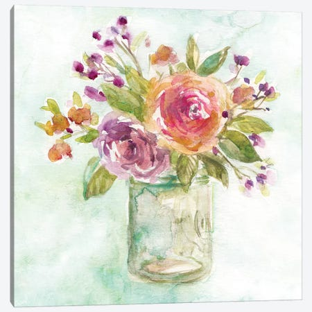 Summer Roses 3-Piece Canvas #CRO897} by Carol Robinson Canvas Print