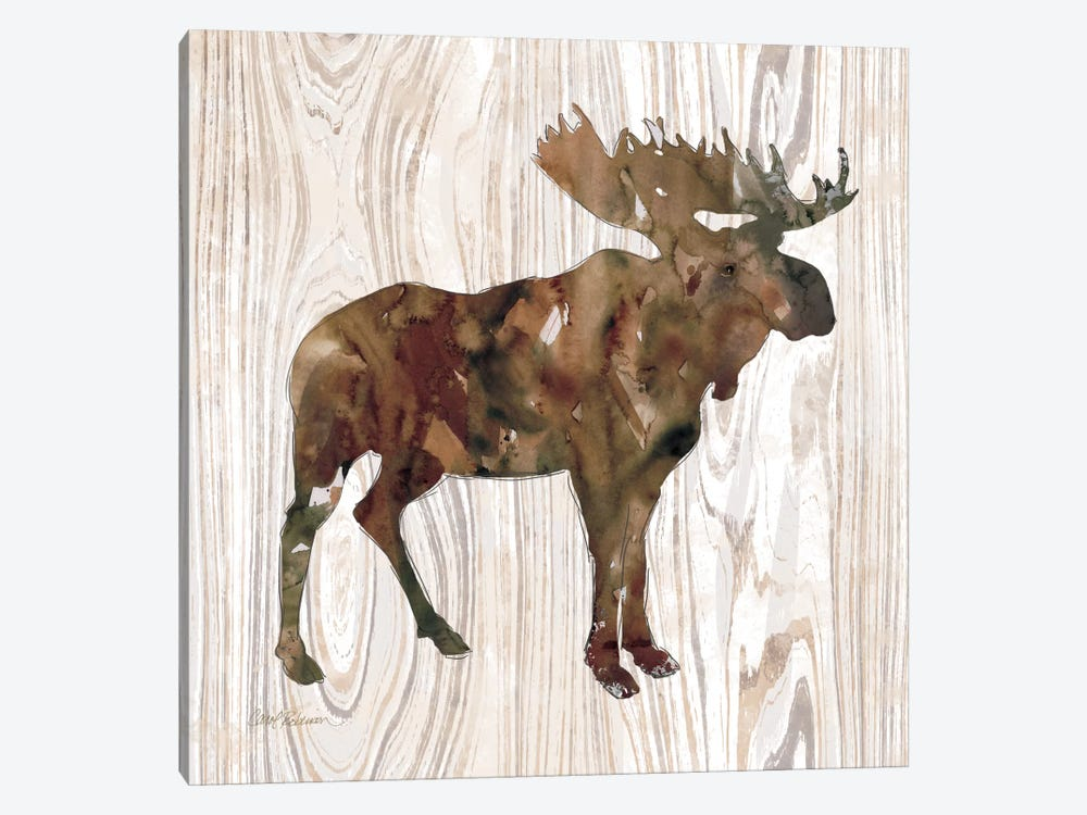 Pine Forest Moose by Carol Robinson 1-piece Canvas Art