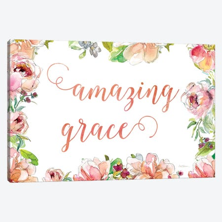 Amazing Grace Canvas Print #CRO904} by Carol Robinson Canvas Art Print