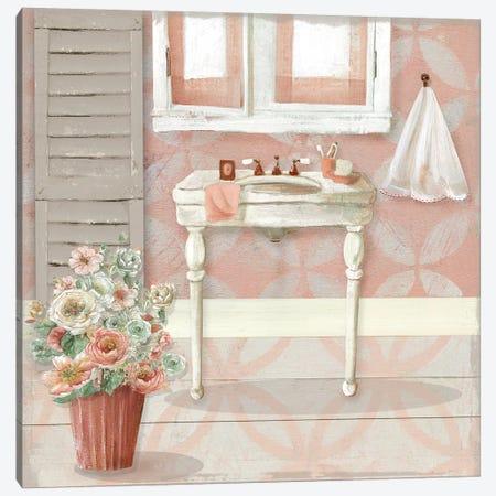 Blushing Bath Sink I Canvas Print #CRO911} by Carol Robinson Art Print