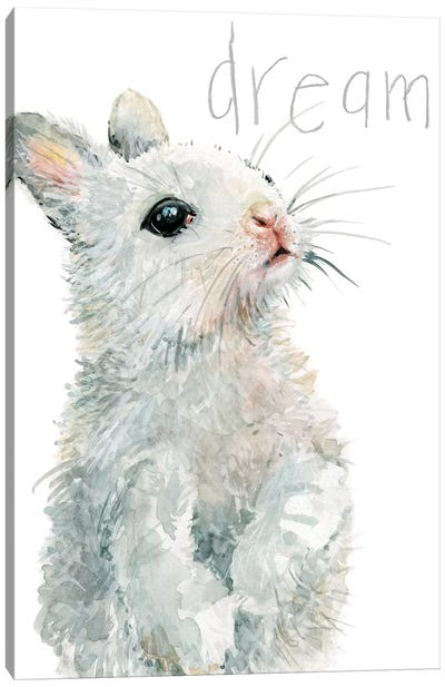 Forest Fur Baby Bunny Canvas Art Print