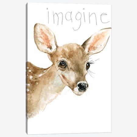 Forest Fur Baby Deer Canvas Print #CRO930} by Carol Robinson Art Print