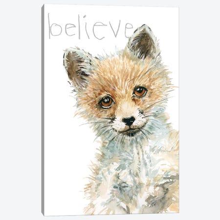 Forest Fur Baby Fox Canvas Print #CRO931} by Carol Robinson Canvas Print