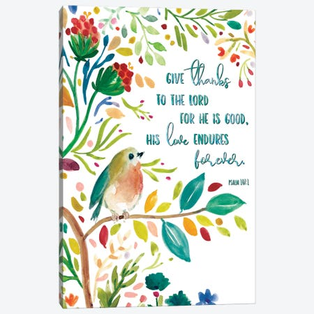 Give Thanks Canvas Print #CRO932} by Carol Robinson Canvas Print