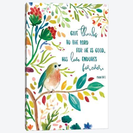 Give Thanks Canvas Print #CRO932} by Carol Robinson Canvas Print
