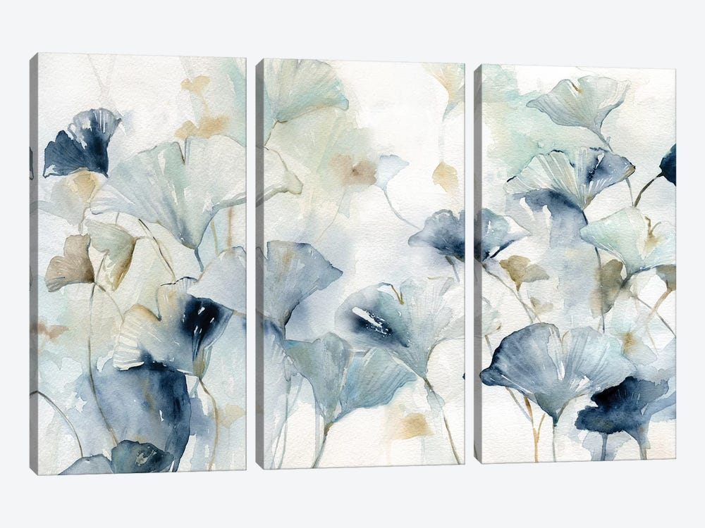 Glorious Gingko by Carol Robinson 3-piece Art Print