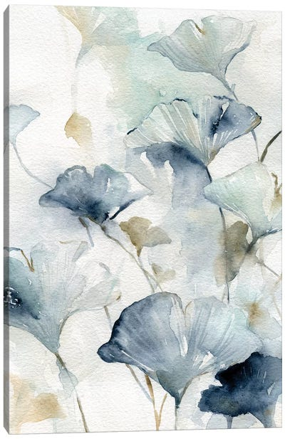 Indigo Gingko II Canvas Art Print