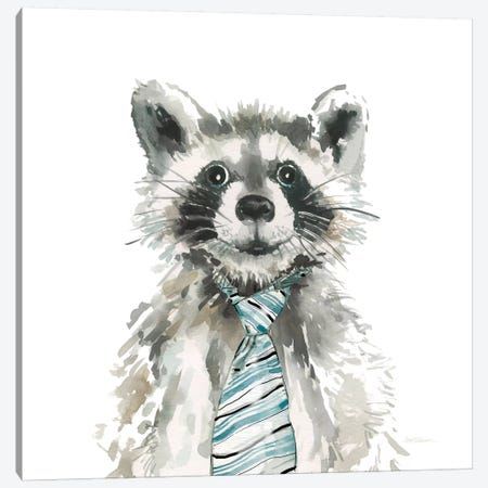 Raccoon Canvas Print #CRO95} by Carol Robinson Canvas Wall Art