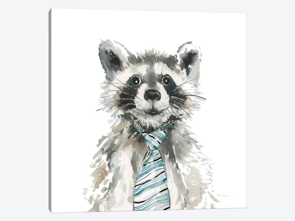Raccoon by Carol Robinson 1-piece Canvas Art Print