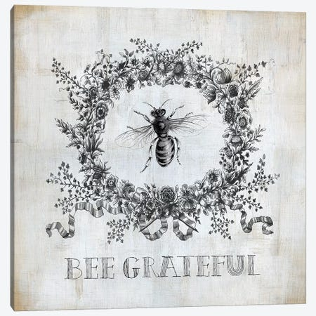 Bee Grateful Canvas Print #CRO967} by Carol Robinson Canvas Art Print