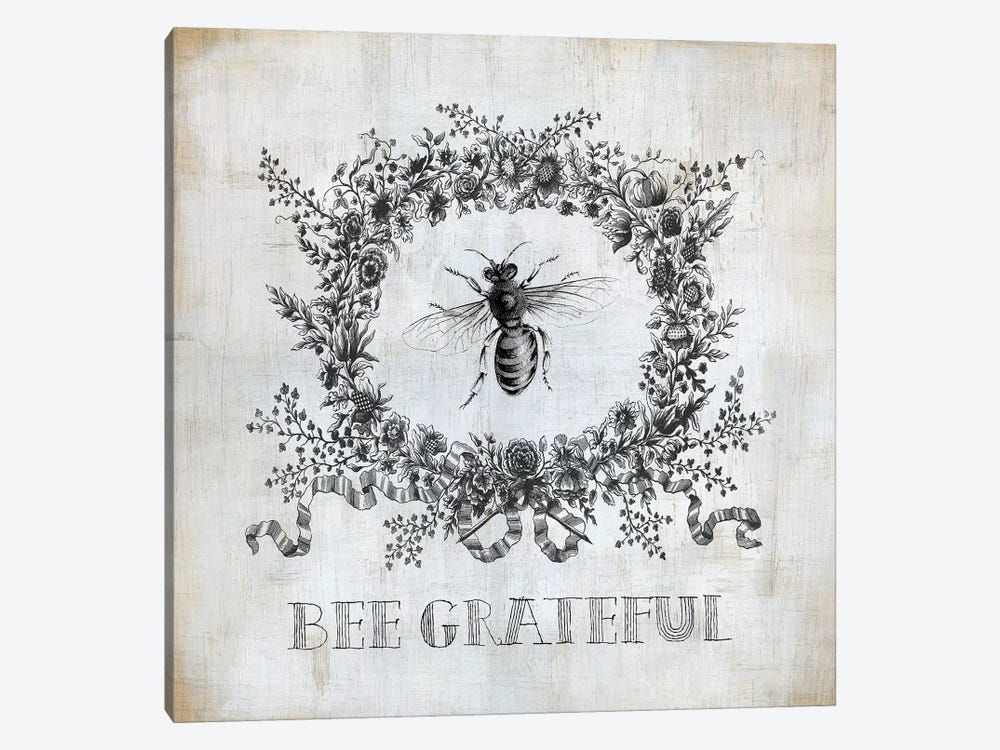 Bee Grateful by Carol Robinson 1-piece Canvas Wall Art