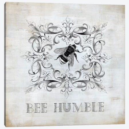 Bee Humble Canvas Print #CRO969} by Carol Robinson Canvas Wall Art
