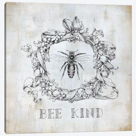 Bee Kind Canvas Print #CRO970} by Carol Robinson Canvas Art Print