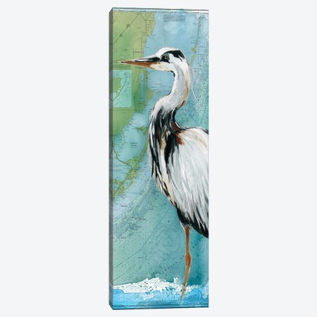 Biscayne Bay Crane Canvas Print #CRO974} by Carol Robinson Canvas Wall Art