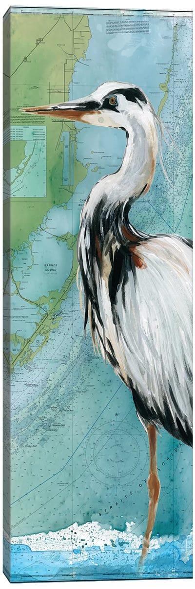 Biscayne Bay Crane Canvas Art Print