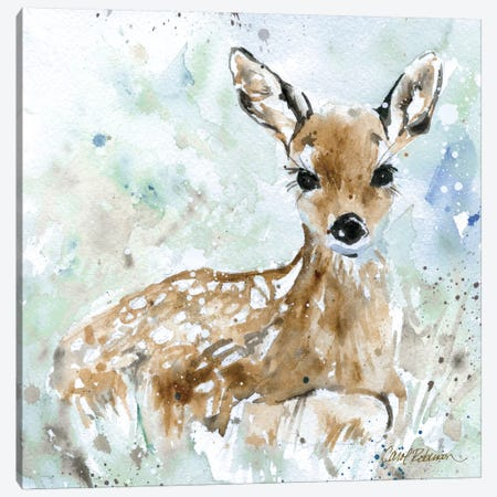 Fawn Canvas Print #CRO9} by Carol Robinson Canvas Wall Art