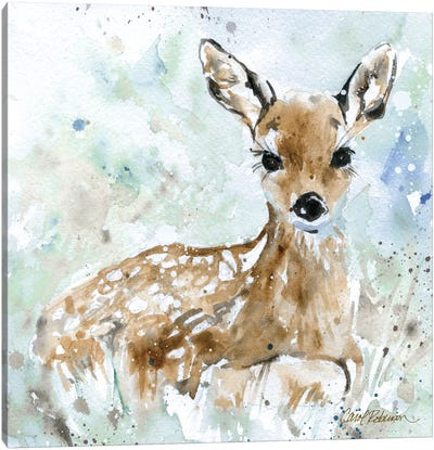 Fawn Canvas Art Print