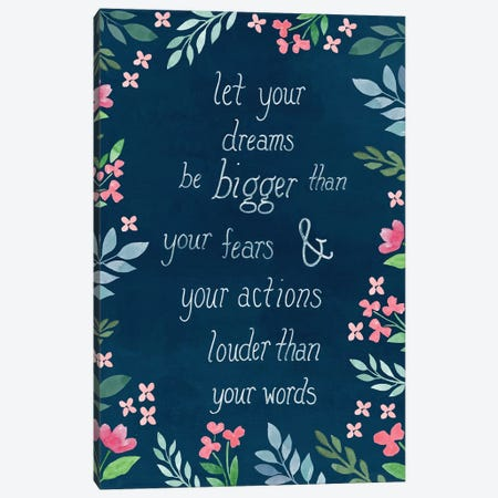Let Your Dreams Be Canvas Print #CRP105} by Natalie Carpentieri Canvas Wall Art