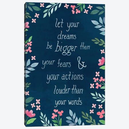 Let Your Dreams Be Canvas Print #CRP105} by Natalie Carpentieri Canvas Wall Art