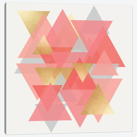 Scandinavian Triangles Canvas Print #CRP11} by Natalie Carpentieri Canvas Artwork
