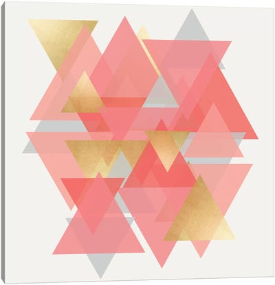 Scandinavian Triangles Canvas Art Print